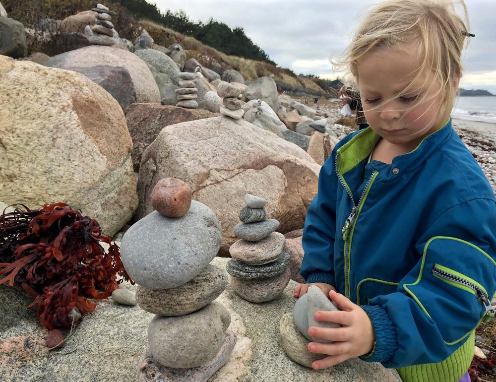 Fjord stabler sten