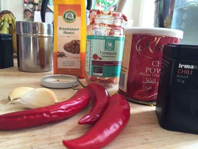 Ingredienser i den bedste falafel chili