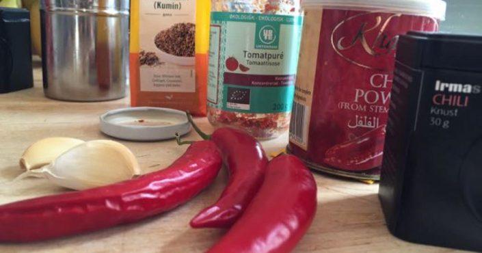 Hjemmelavet kebab chili