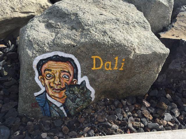 Dali malet på sten
