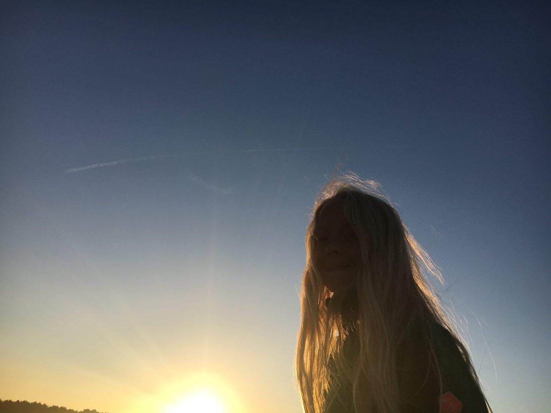 Storm i solnedgangen