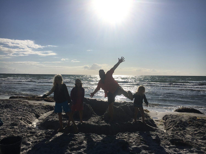 Vulkanø på stranden