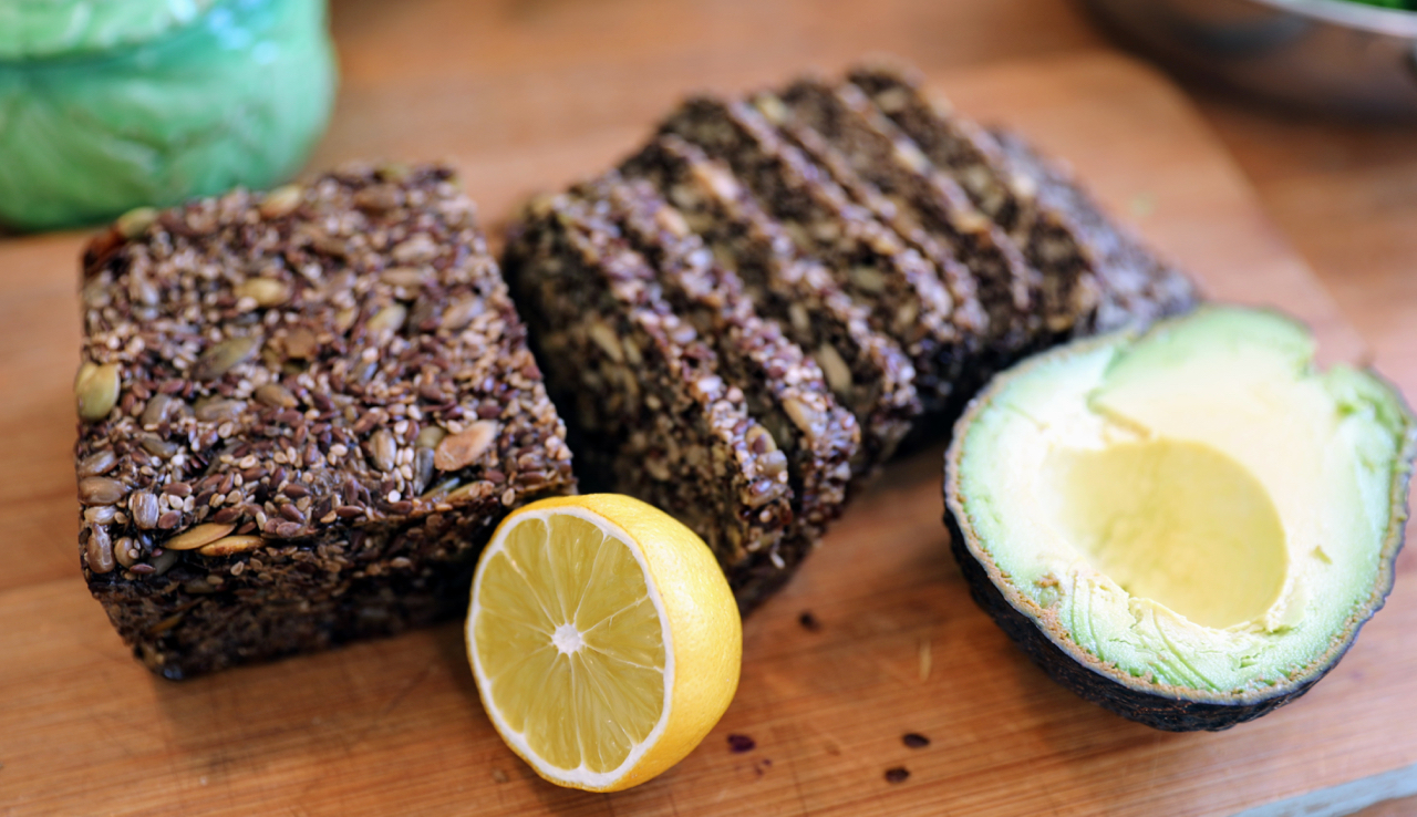 Seedsbread and avocado