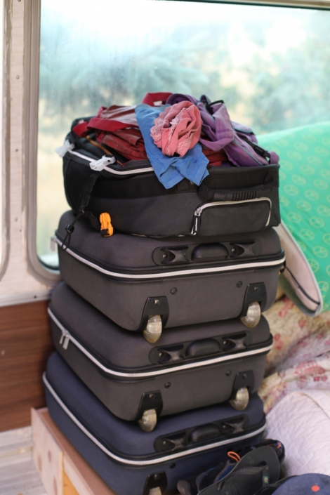 Seven weeks as guests, living in carry on suitcases - now living in the same suitcases in the bus, while still building it. A challenge ...