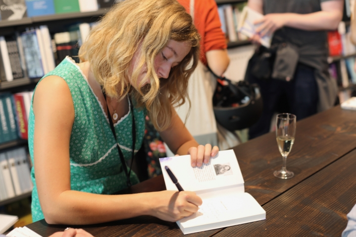 """Signatures was like writing postcards to everyone"" she told me afterwards. ""It was so much fun!"""