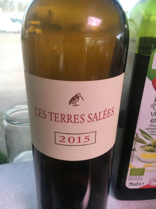 A local wine from a field, where - if I understood it right - they water the plants with seawater to get more minerals and more salt into the grapes. It was a very good wine